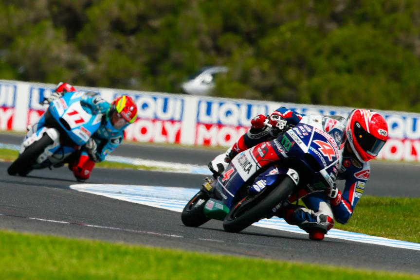 Fabio Di Giannantonio, Gresini Racing Moto3 and Livio Loi, RW Racing GP BV, Michelin® Australian Motorcycle Grand Prix