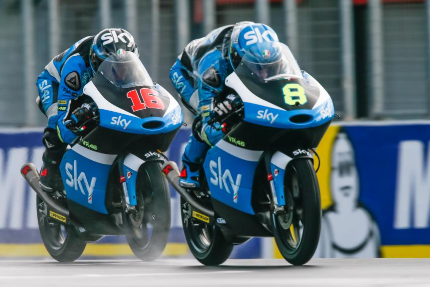 Nicolo Bulega and Andrea Migno, SKY Racing Team VR46, Michelin® Australian Motorcycle Grand Prix