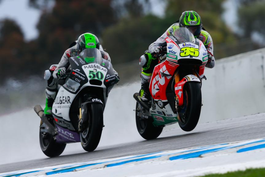 Cal Crutchlow, LCR Honda and Eugene Laverty, Pull&Bear Aspar Team, Michelin® Australian Motorcycle Grand Prix