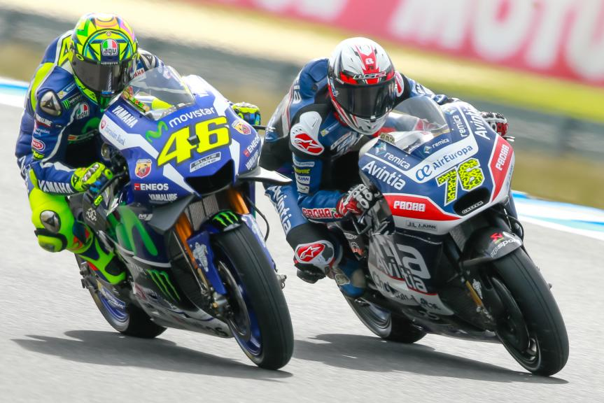 Valentino Rossi, Movistar Yamaha MotoGrand Prix and Loris Baz, Avintia Racing, Michelin® Australian Motorcycle Grand Prix