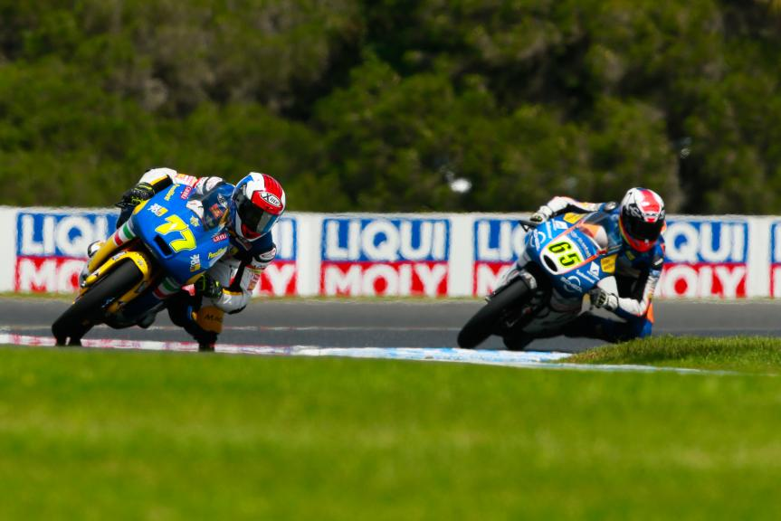 Lorenzo Petrarca, 3570 Team Italia and Philipp Oettl, Schedl GP Racing, Michelin® Australian Motorcycle Grand Prix