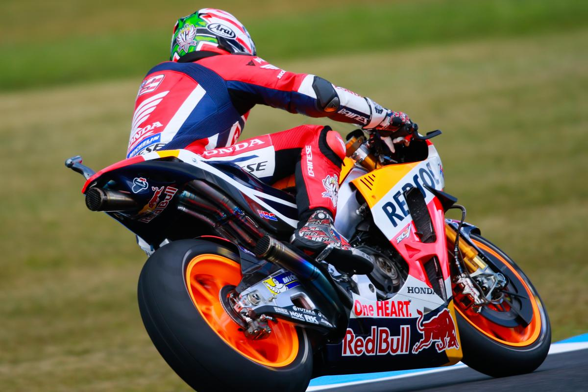 "Hayden: ""We only had time to put on the rear slick"" 