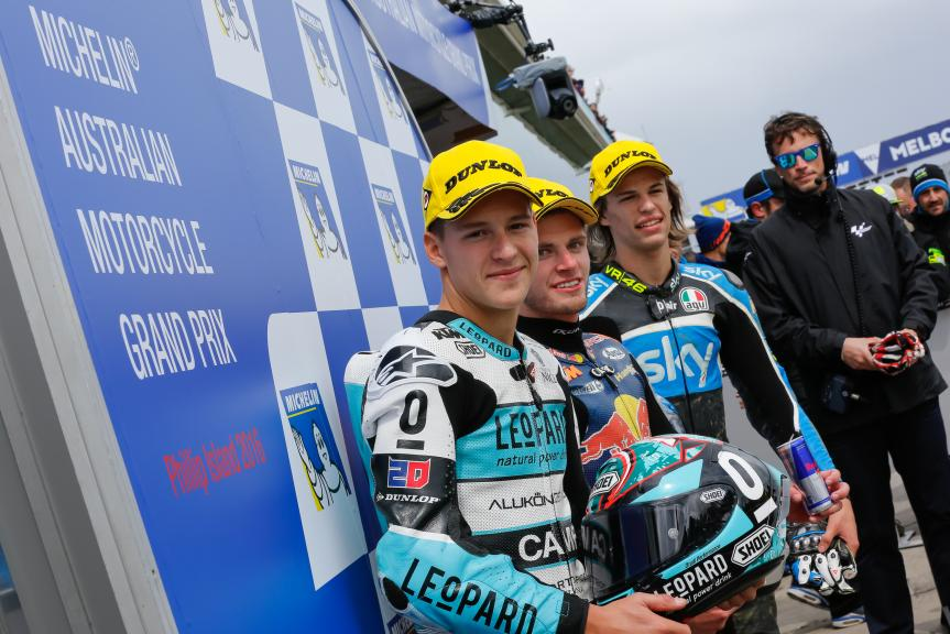 Brad Binder, Fabio Quartararo, Nicolo Bulega, Michelin® Australian Motorcycle Grand Prix