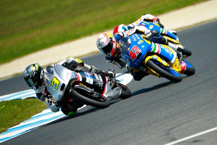 Fabio Spiranelli, Fabio Spiranelli, CIP Unicom Starker and Stefano Valtulini, 3570 Team Italia, Michelin® Australian Motorcycle Grand Prix
