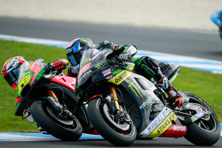 Bradley Smith, Monster Yamaha Tech 3 and Alvaro Bautista, Aprilia Racing Team Gresini, Michelin® Australian Motorcycle Grand Prix
