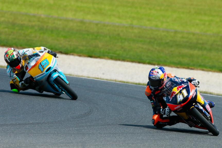 Gabriel Rodrigo, RBA Racing Team and Brad Binder, Red Bull KTM Ajo, Michelin® Australian Motorcycle Grand Prix