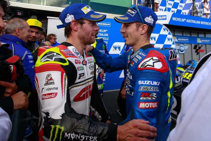 Maverick Viñales, Team SUZUKI ECSTAR and Cal Crutchlow, LCR Honda, Michelin® Australian Motorcycle Grand Prix Michelin® Australian Motorcycle Grand Prix