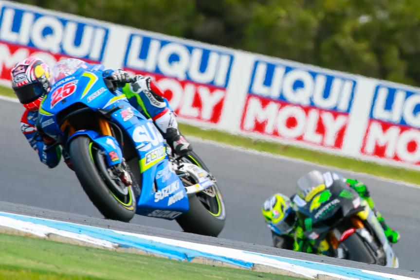 Pol Espargaro, Monster Yamaha Tech 3 and Maverick Viñales, Team SUZUKI ECSTAR, Michelin® Australian Motorcycle Grand Prix