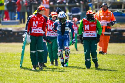 L'incidente in Moto3™ alla curva dieci di Phillip Island