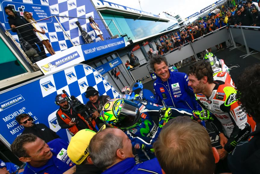 Cal Crutchlow, LCR Honda and Valentino Rossi, Movistar Yamaha MotoGP, Michelin® Australian Motorcycle Grand Prix Michelin® Australian Motorcycle Grand Prix