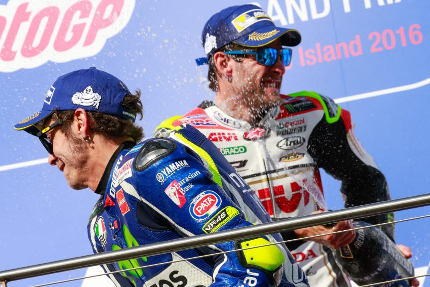 Cal Crutchlow, LCR Honda and Valentino Rossi, Movistar Yamaha MotoGP, Michelin® Australian Motorcycle Grand Prix