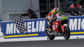 Cal Crutchlow took full advantage of a crash from Marc Marquez to cruise to victory in the Australian Grand Prix on the LCR Honda