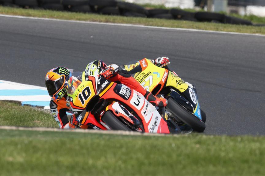 Luca Marini, Forward Team and Edgar Pons, Paginas Amarillas HP 40, Michelin® Australian Motorcycle Grand Prix