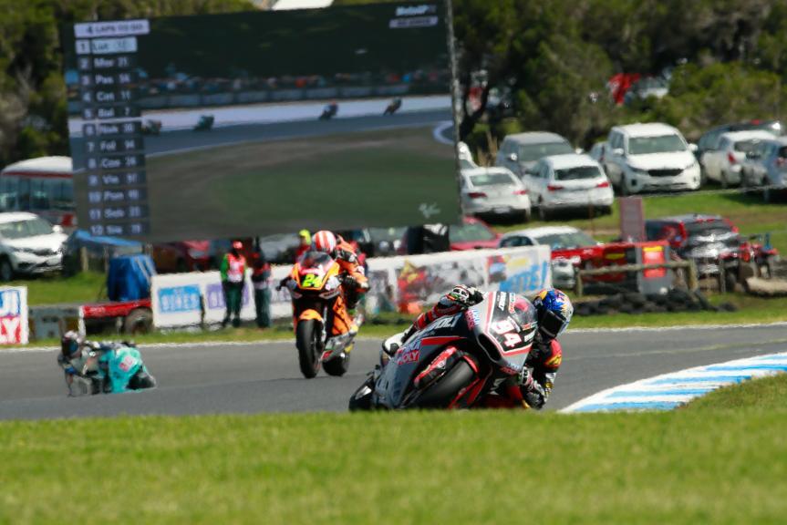 Jonas Folger, Dynavolt Intact GP and Simone Corsi, Speed Up Racing, Michelin® Australian Motorcycle Grand Prix