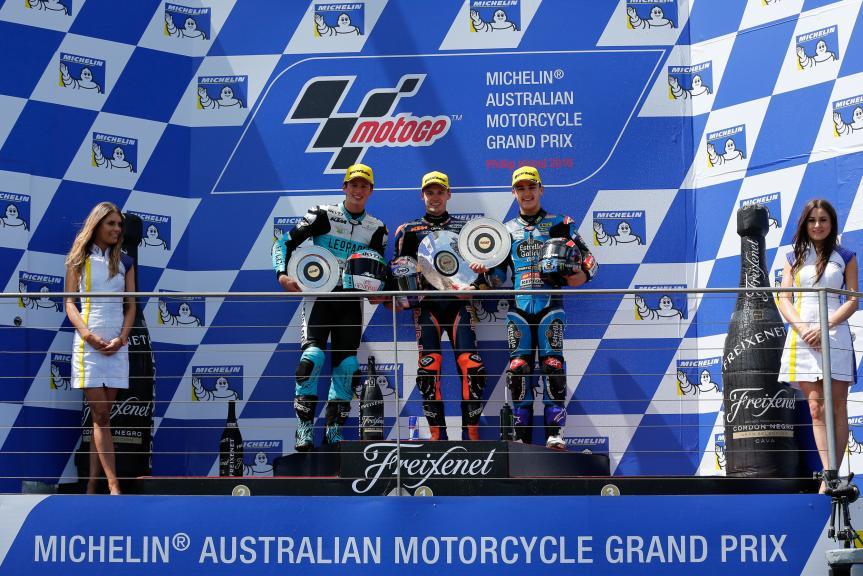 Brad Binder, Andrea Locatelli, Aron Canet, Michelin® Australian Motorcycle Grand Prix