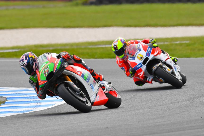 Stefan Bradl, Aprilia Racing Team Gresini and Hector Barbera, Ducati Team, Michelin® Australian Motorcycle Grand Prix