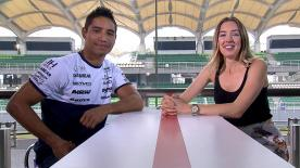 Before every race motogp.com reporter Amy Dargan catches up with one of the riders - this week it's Hernandez's turn.
