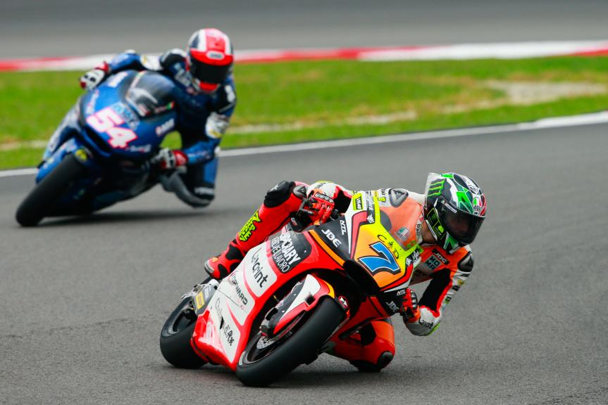 Lorenzo Baldassarri, Forward Team and Mattia Pasini, Italtrans Racing Team, Shell Malaysia Motorcycle Grand Prix
