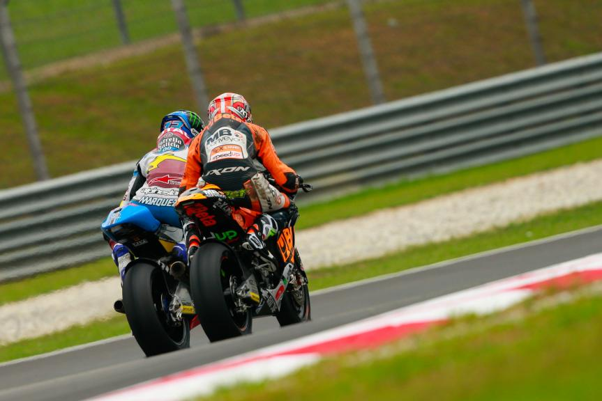 Simone Corsi, Speed Up Racing and Alex Marquez, Estrella Galicia 0,0 Marc VDS, Shell Malaysia Motorcycle Grand Prix