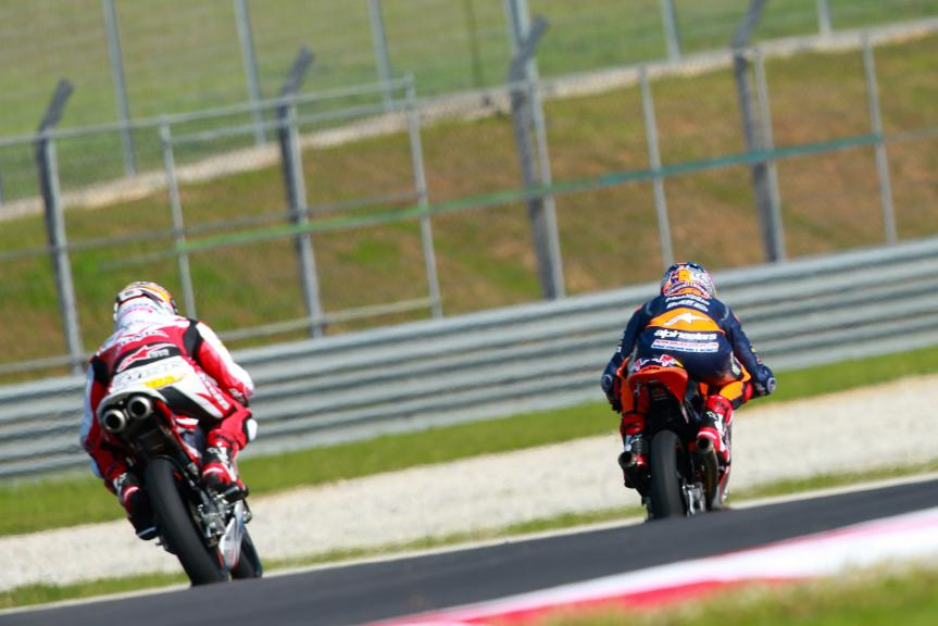 Bo Bendsneyder, Red Bull KTM Ajo and Hiroki Ono, Honda Team Asia, Shell Malaysia Motorcycle Grand Prix