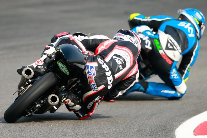 Fabio Spiranelli, CIP Unicom Starker and Nicolo Bulega, SKY Racing Team VR46, Shell Malaysia Motorcycle Grand Prix