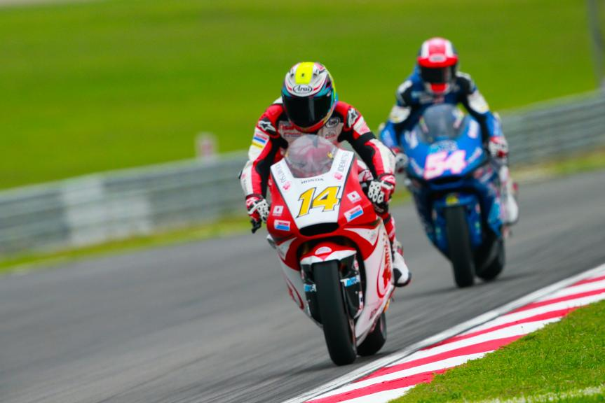 Ratthapark Wilairot, IDEMITSU Honda Team Asia and Mattia Pasini, Italtrans Racing Team, Shell Malaysia Motorcycle Grand Prix