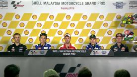 I piloti più veloci commentano i loro risultati nelle qualifiche a Sepang.