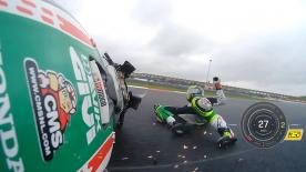 The British rider suffered two crashes during Saturday's sessions