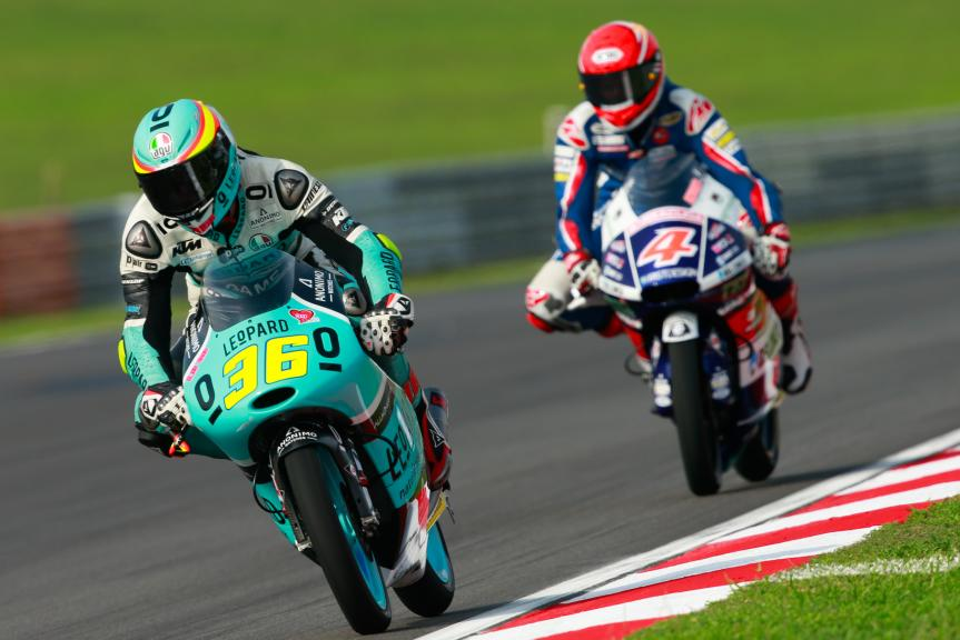 Joan Mir, Leopard Racing and Fabio Di Giannantonio, Gresini Racing Moto3, Shell Malaysia Motorcycle Grand Prix