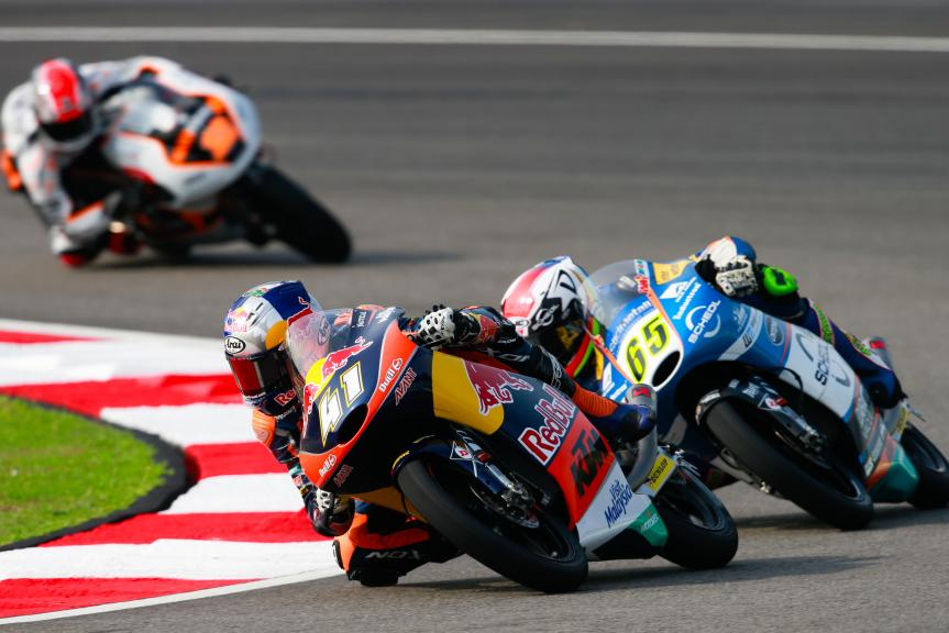 Brad Binder, Red Bull KTM Ajo and Philipp Oettl, Schedl Grand Prix Racing, Shell Malaysia Motorcycle Grand Prix