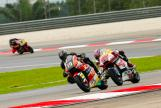 Sam Lowes, Federal Oil Gresini Moto2 and Axel Pons, AGR Team, Shell Malaysia Motorcycle Grand Prix