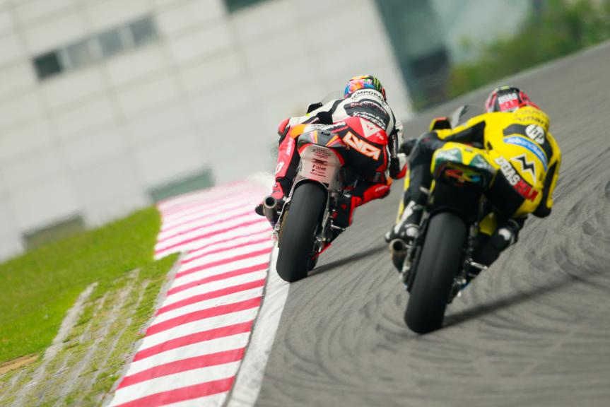 Edgar Pons, Paginas Amarillas HP 40 and Luca Marini, Forward Team, Shell Malaysia Motorcycle Grand Prix