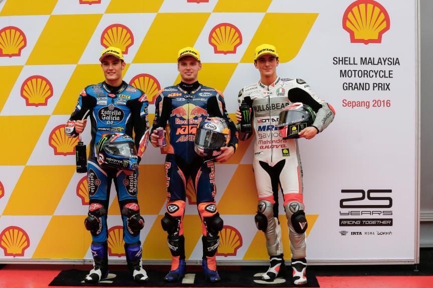 Brad Binder, Jorge Navarro, Francesco Bagnaia, Shell Malaysia Motorcycle Grand Prix
