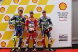 Andrea Dovizioso, Valentino Rossi and Jorge Lorenzo, Shell Malaysia Motorcycle Grand Prix
