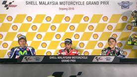 Les pilotes présents sur le podium du #MalaysianGP se sont confiés aux médias en salle de presse après la course.