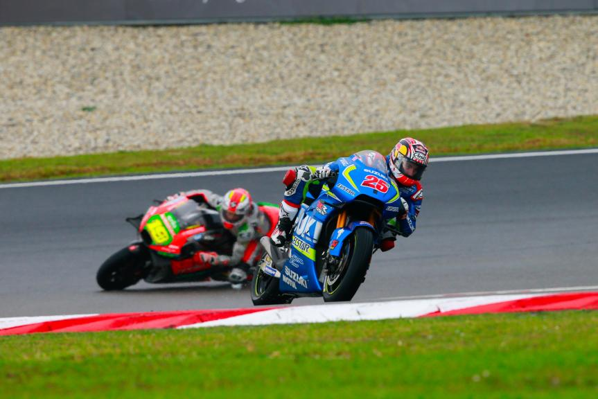 Maverick Viñales, Team SUZUKI ECSTAR and Alvaro Bautista, Aprilia Racing Team Gresini, Shell Malaysia Motorcycle Grand Prix