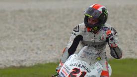 Pecco fa suo il GP della Malesia dopo aver condotto una gara caratterizzata dai molti ritiri. Kornfeil e Bendsneyder sono sul podio.
