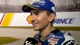 Jorge Lorenzo estime avoir eu de la chance de monter sur la troisième marche du podium à Sepang.