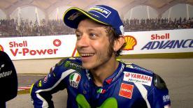 Valentino Rossi s'adjuge la deuxième place du Grand Prix de Malaisie derrière Andrea Dovizioso.