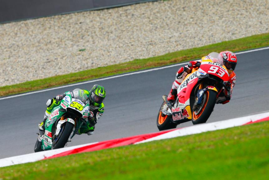 Marc Marquez, Repsol Honda Team and Cal Crutchlow, LCR Honda, Shell Malaysia Motorcycle Grand Prix