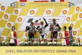 Francesco Bagnaia, Jakub Kornfeil, Bo Bendsneyder, Shell Malaysia Motorcycle Grand Prix