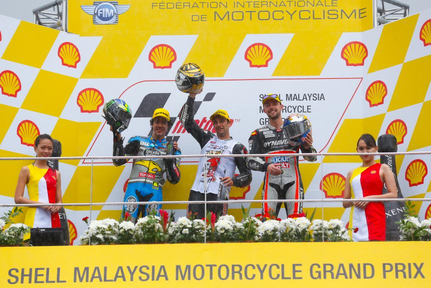 Johann Zarco, Franco Morbidelli and Jonas Folger, Dynavolt Intact Grand Prix, Shell Malaysia Motorcycle Grand Prix