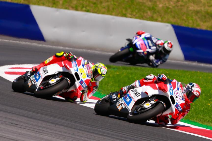 Andrea Iannone and Andrea Dovizioso, Ducati Team, NeroGiardini Motorrad Grand Prix von Österreich