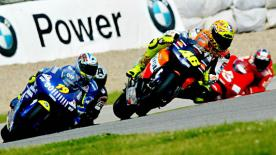 Relive the classic German Grand Prix at the Sachsenring Circuit in 2002.