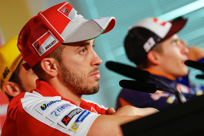 Andrea Dovizioso, Press conference Gran Premio Motul de la Comunitat Valenciana