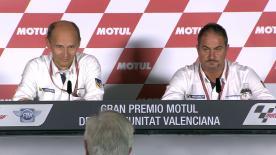 Nicolas Goubert et Piero Taramasso ont donné une conférence de presse à Valence pour revenir sur la saison 2016 du manufacturier Michelin.