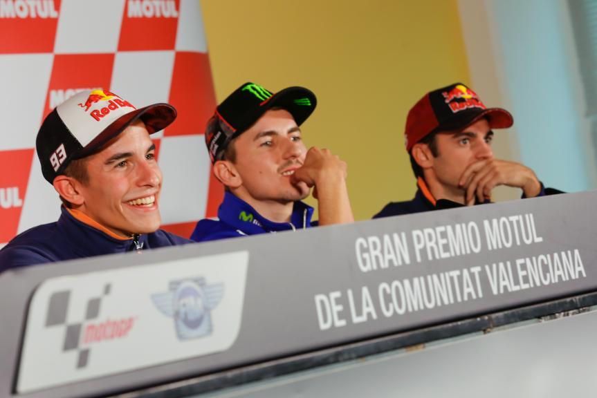 Press conference Gran Premio Motul de la Comunitat Valenciana