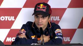 Dani Pedrosa, forfait lors des trois dernières courses, admet ne pas être encore à 100% pour son retour en piste à Valence