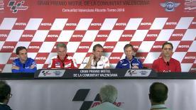 Revisionnez la conférence de presse donnée à Valence, en présence des représentants de Suzuki, Honda, Yamaha, Aprilia, Ducati et Suzuki.