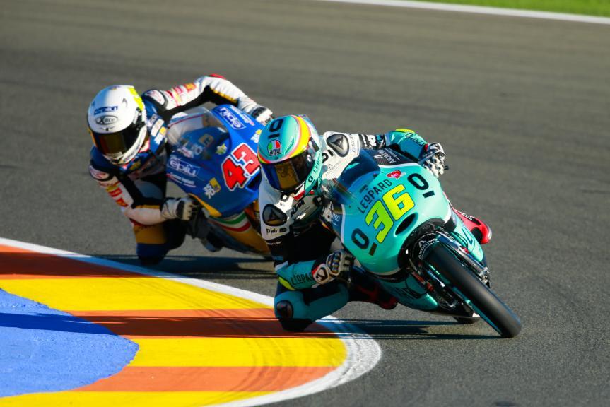 Joan Mir, Leopard Racing and Stefano Valtulini, 3570 Team Italia, Gran Premio Motul de la Comunitat Valenciana
